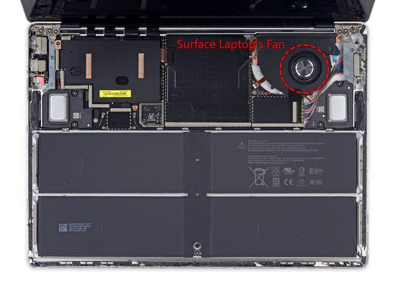 Surface Laptop Core-i7 with a fan